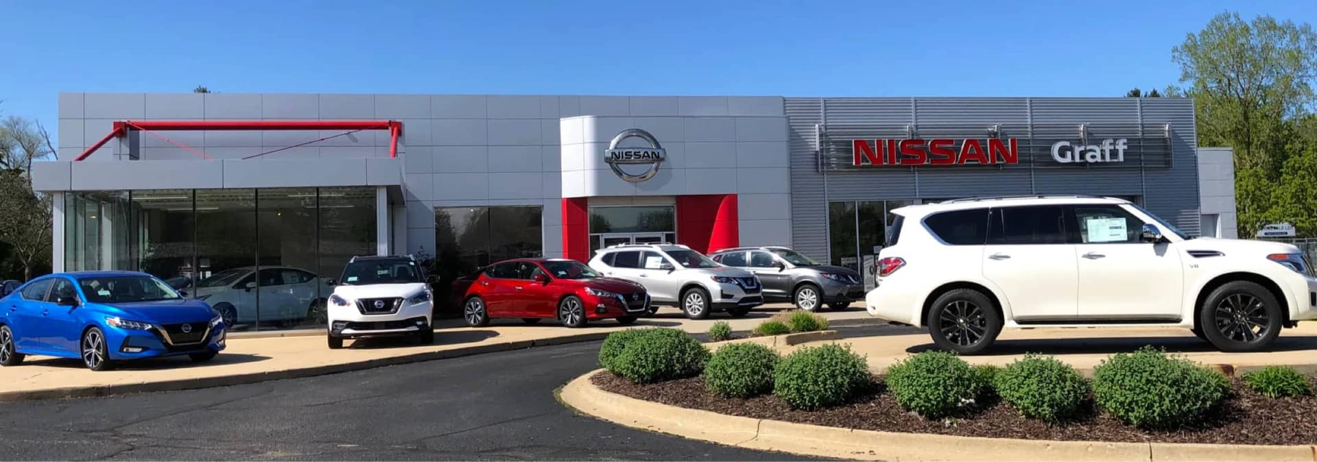 An exterior shot of the Graff Nissan dealership