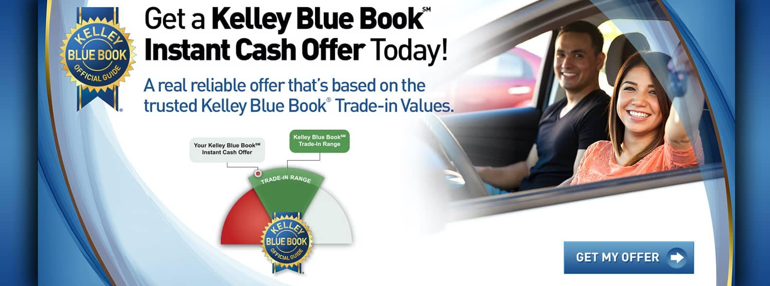 Kelley Blue Book instant cash offer banner