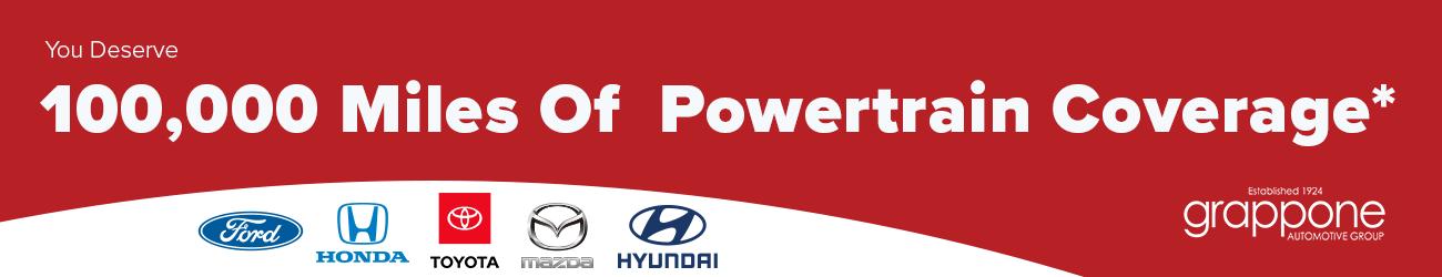 100,000 miles of powertrain coverage