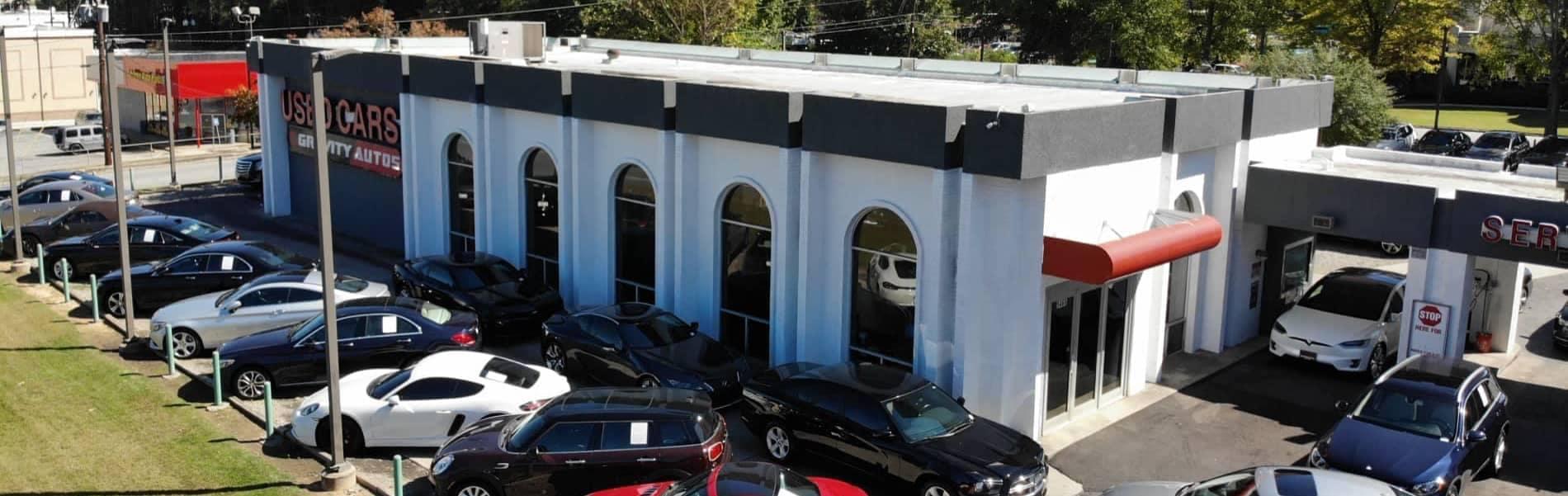 gravity autos atlanta dealership building