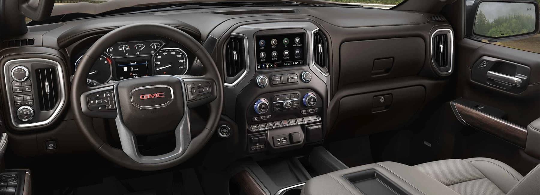 2021 GMC Sierra 1500 Pickup Truck Interior Front Seat Steering wheel