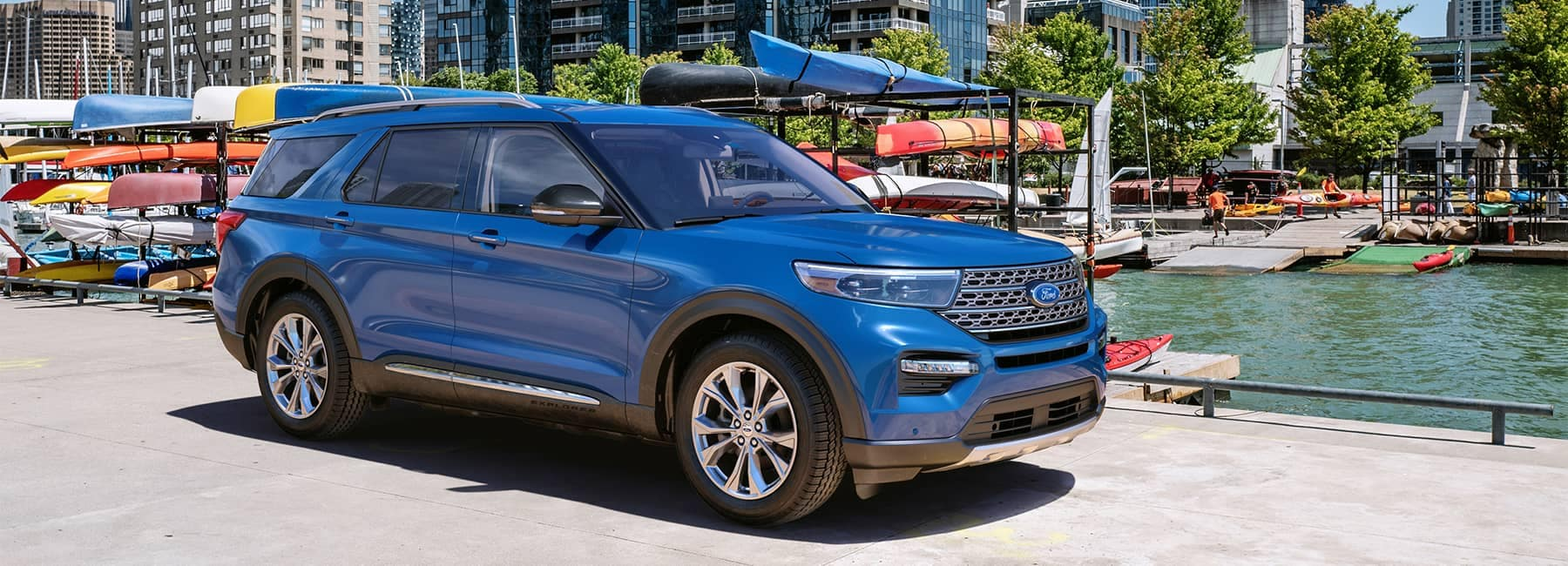 2020 Ford Explorer in Atlas Blue