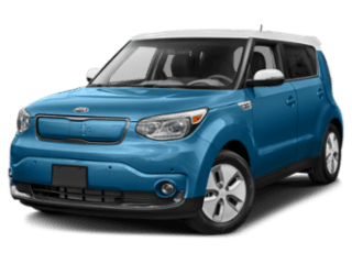 Angled view of the Kia Soul EV