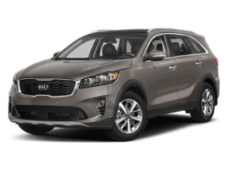 Angled view of the Kia Sorento