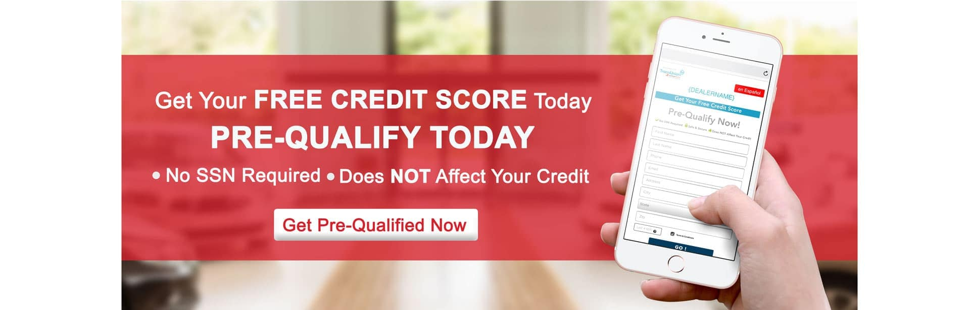Get Your Free Credit Score Today Banner. No SSN Required. Does Not Effect Your Credit.
