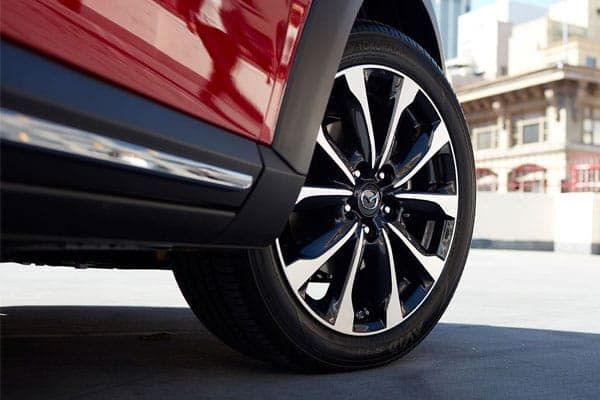 Close up of a Mazda CX-3 wheel