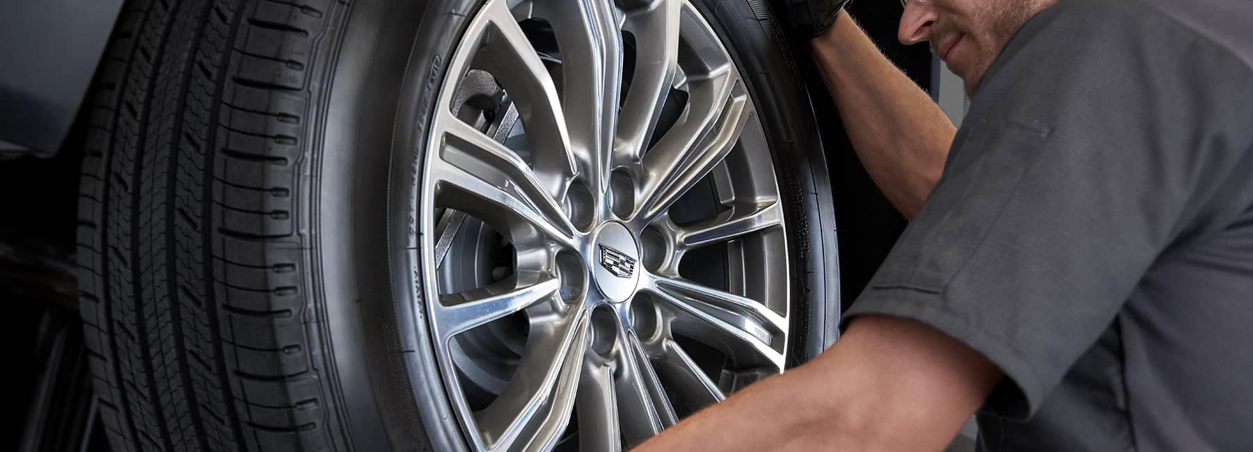 Cadillac Tire being changed