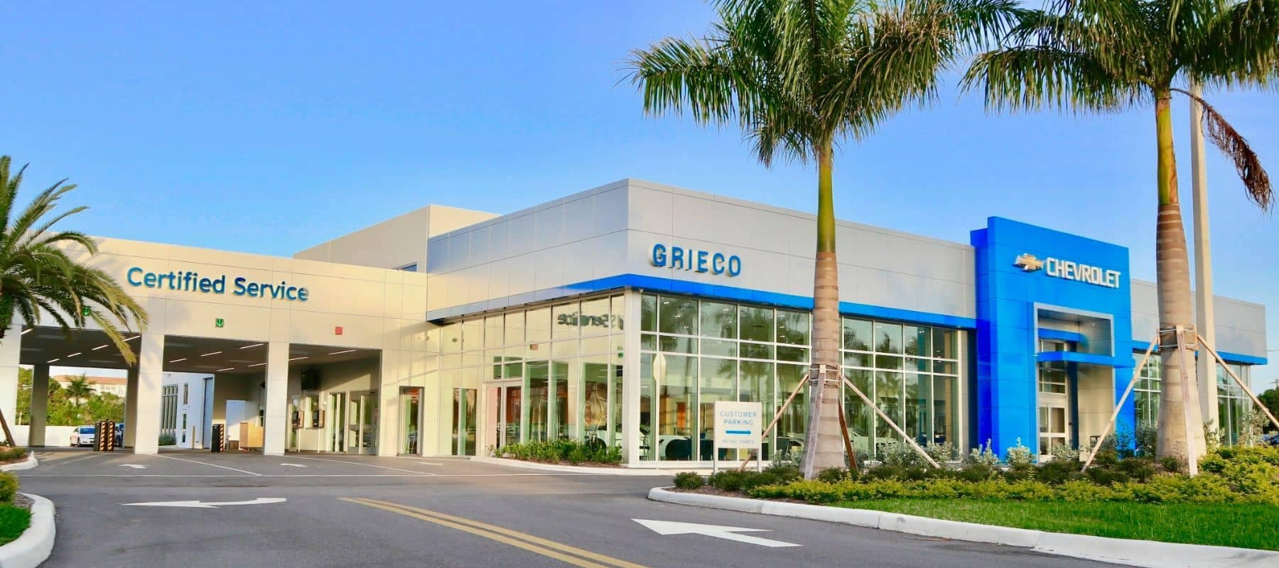 Greico Chevrolet front of dealership