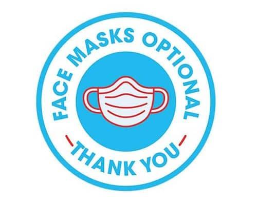 Face Masks Optional