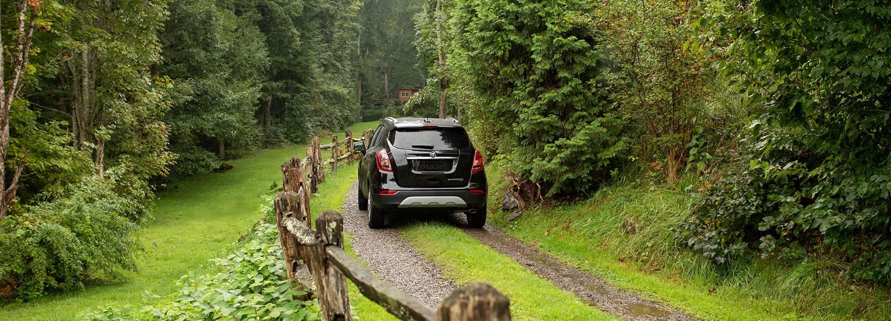 2020 Buick Encore on a Forest Path
