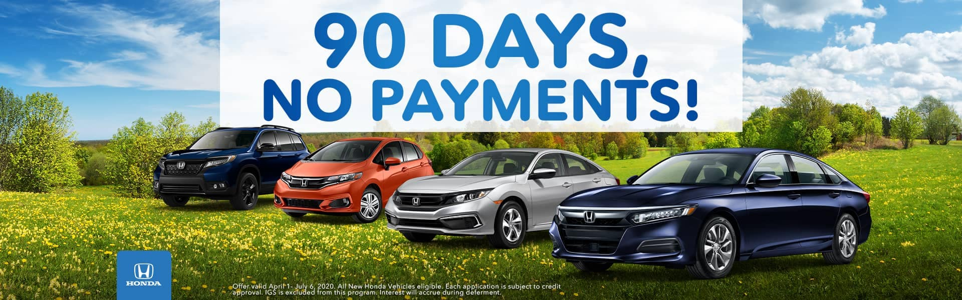 90 Days, No Payments!