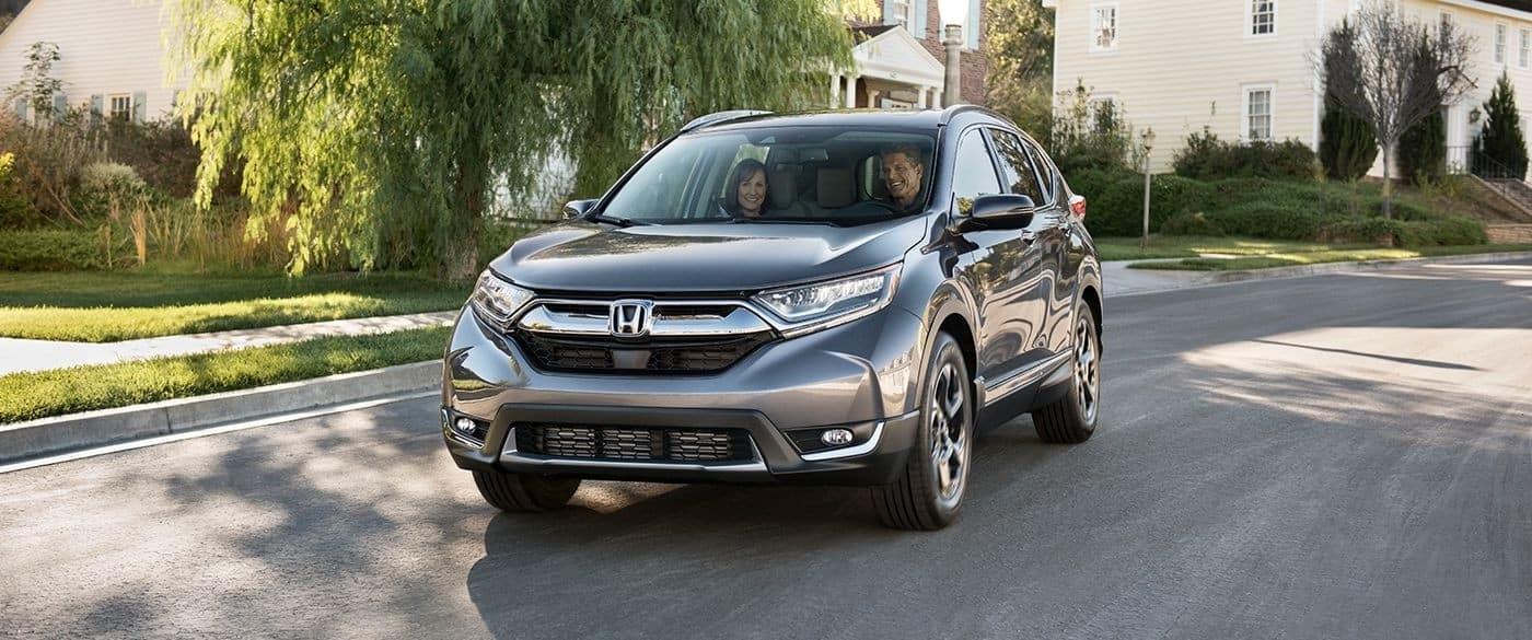 2017 Honda CR-V Driving Through Suburban Neighborhood