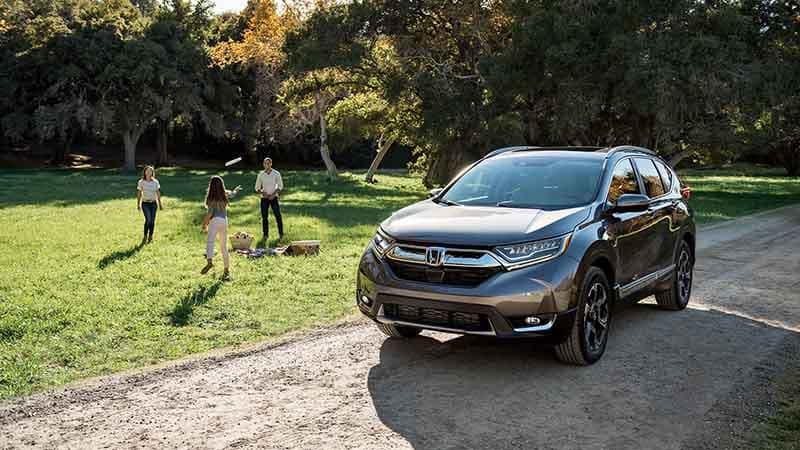 2018 Honda CR-V parked at camping ground