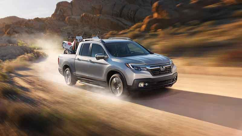 2018 Honda Ridgeline Off-Roading Carrying Dirt Bikes in the Bed