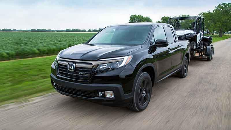 2018 Honda Ridgeline towing a trailer