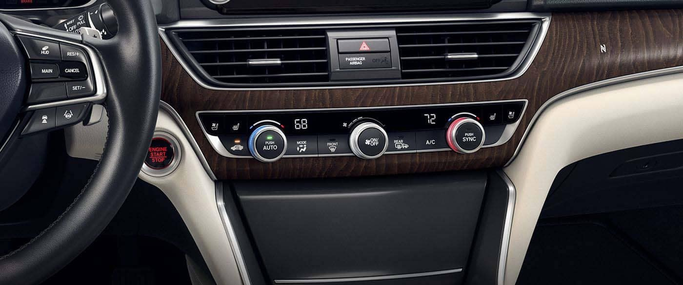 2018 Honda Accord Climate Control Settings