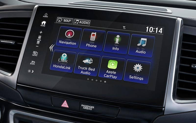 2019 Honda Ridgeline Display Screen Audio Options