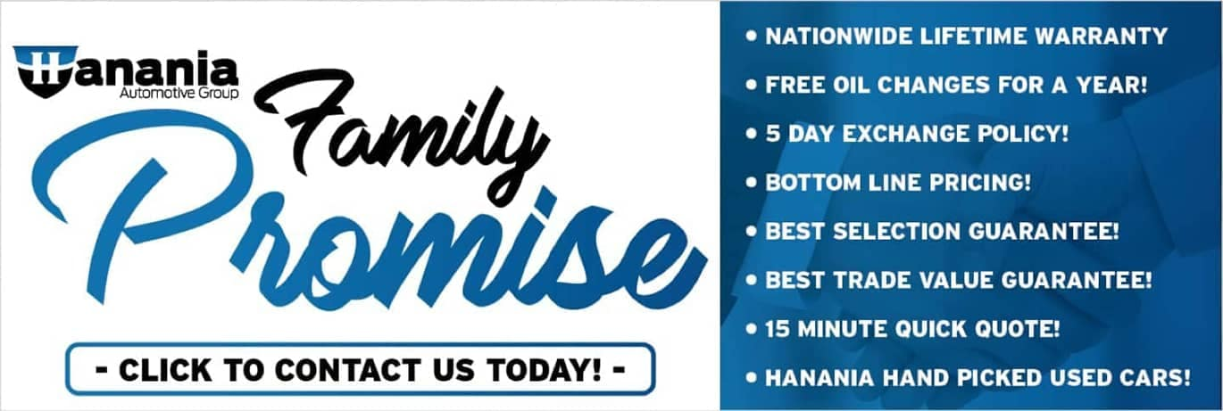 Hanania Automotive Group Family Promise. Click to contact us today!