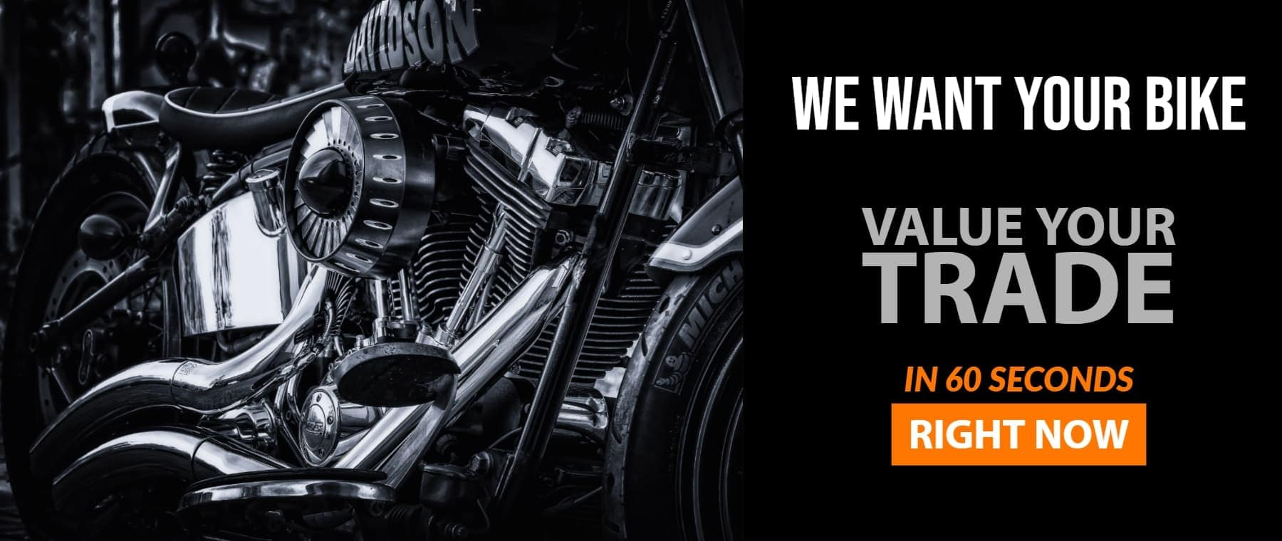 We Want Your Bike. Value Your Trade Slider