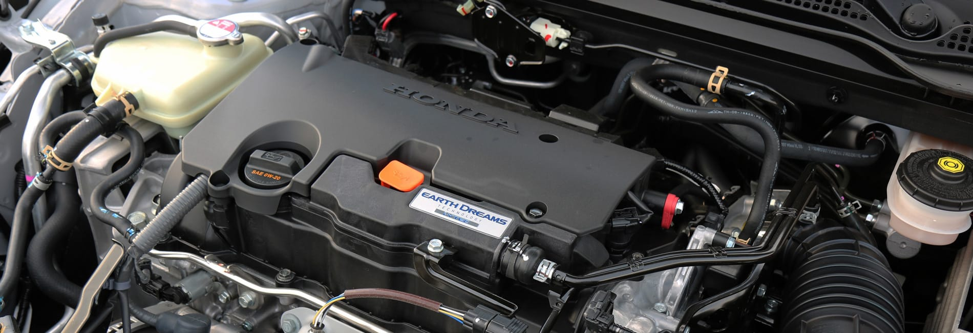 A Honda Engine as viewed from the top down