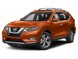 Angled view of the Nissan Rogue