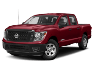 Angled view of the Nissan Titan