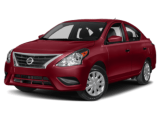 Angled view of the Nissan Versa