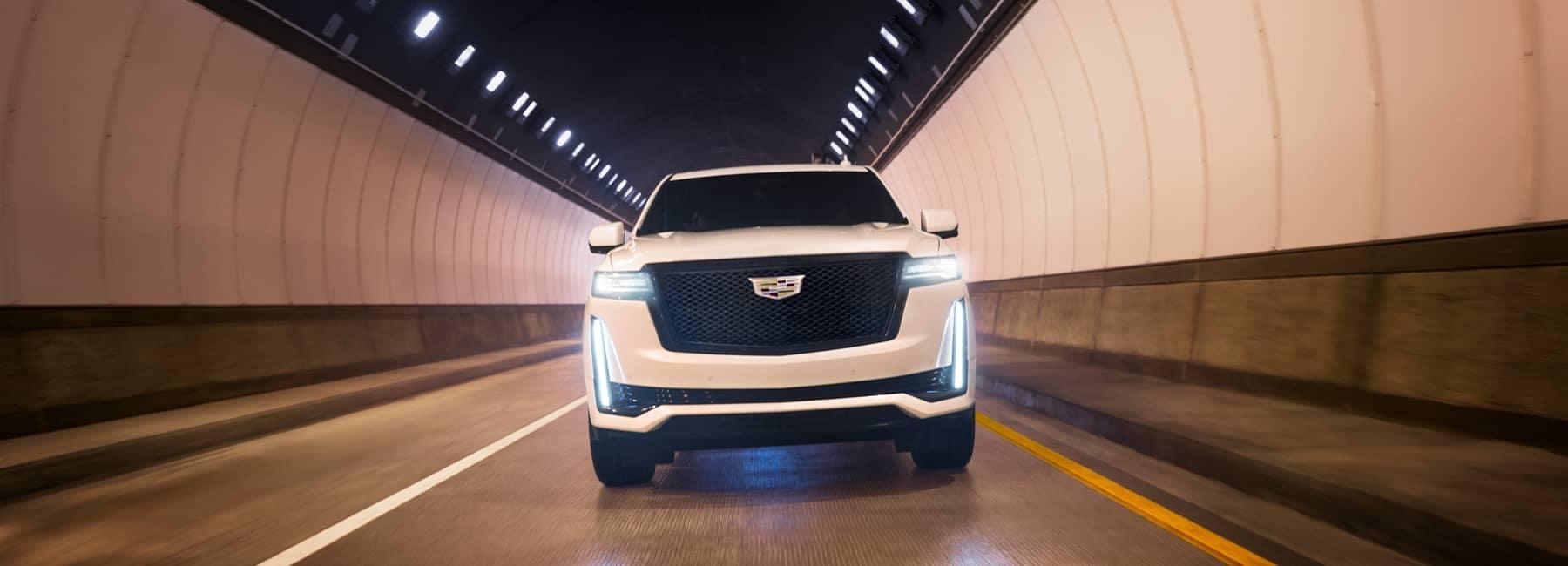 2021 Cadillac Escalade on the road at night