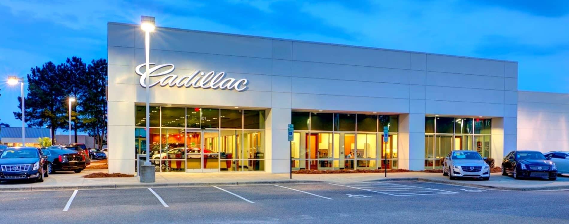 Hendrick Cadillac Cary Exterior of the dealership