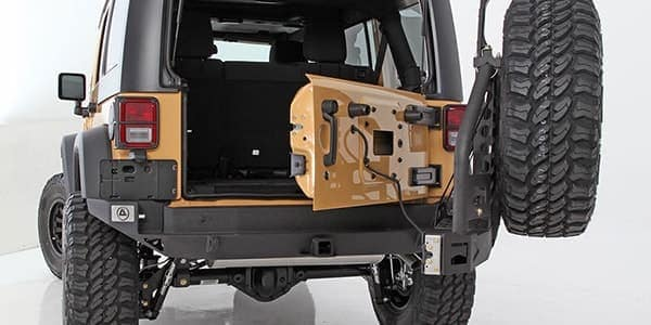 Jeep open back door
