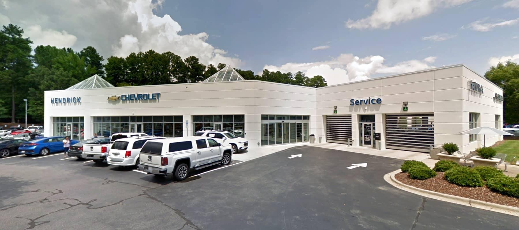 An exterior shot of Hendrick Chevrolet Cary