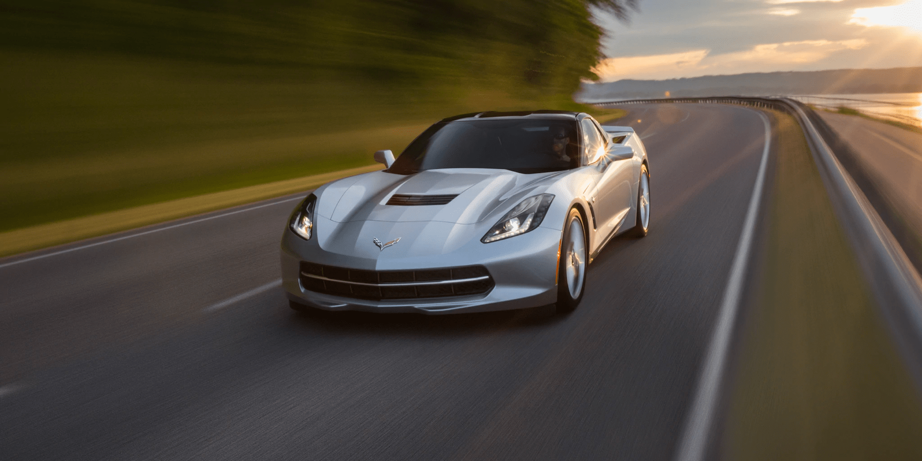 2019 Stingray driving on country highway