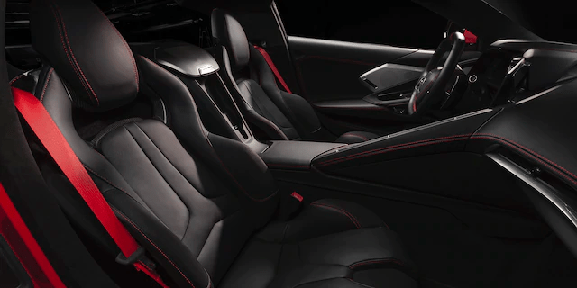 interior view of 2020 Corvette bucket seats