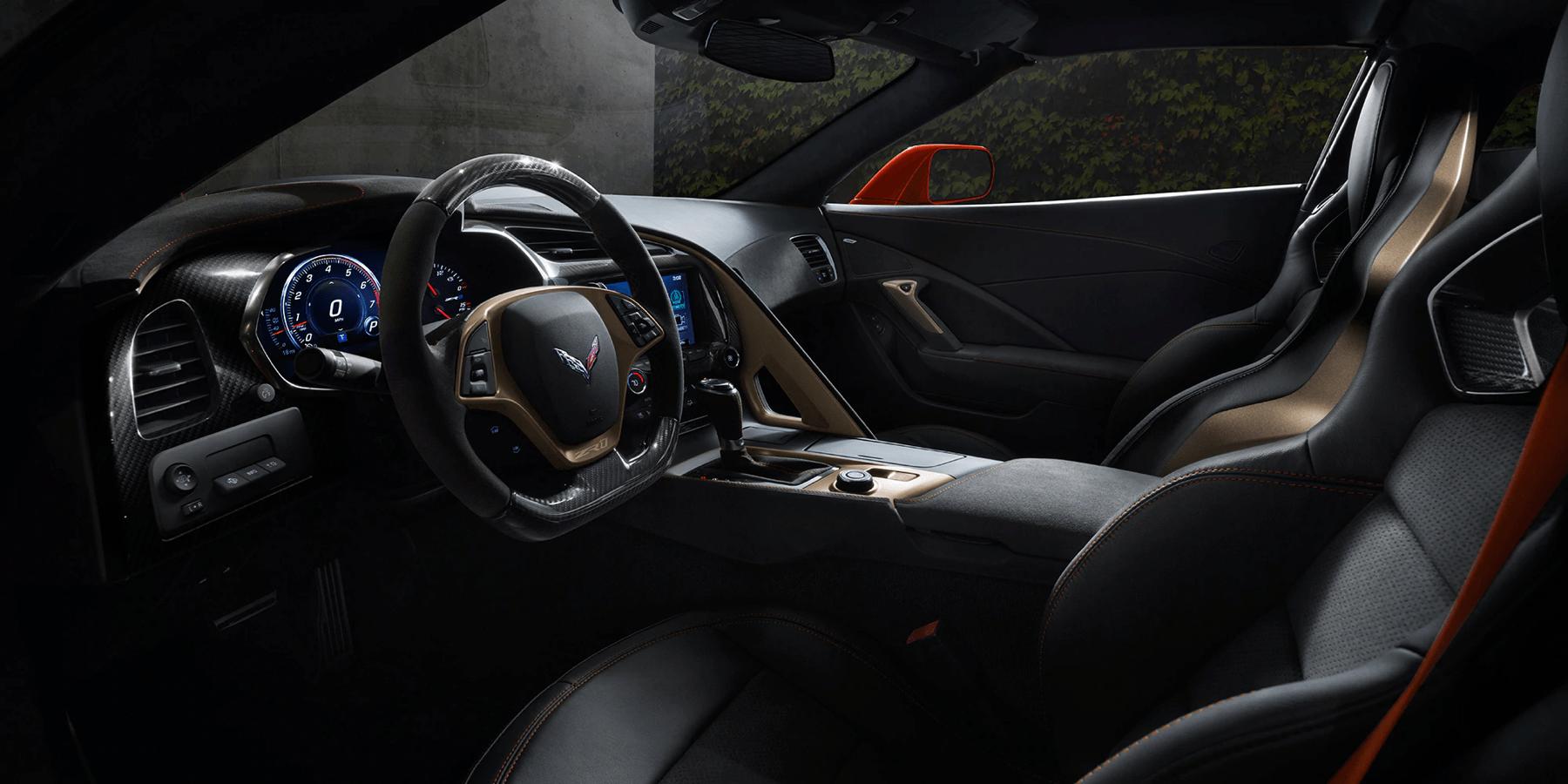interior dashboard of Corvette ZR1