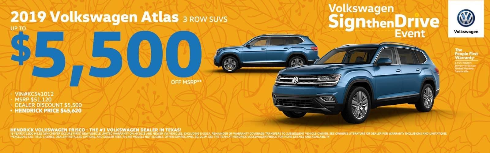 2019 Volkswagen Atlas 3 Row SUVs