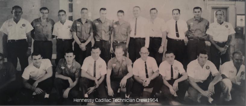 Hennessy Cadillac Technician Crew 1964