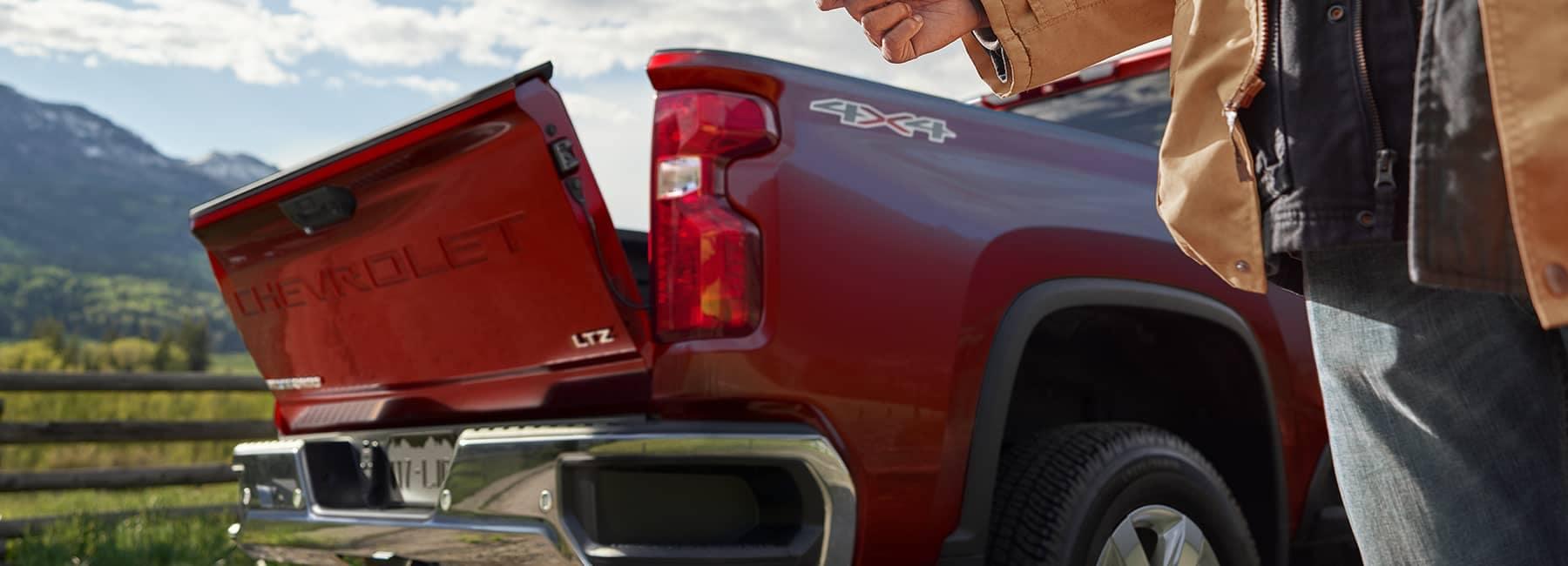 Red 2020 Chevrolet Silverado 2500HD Crew Cab Tailgate