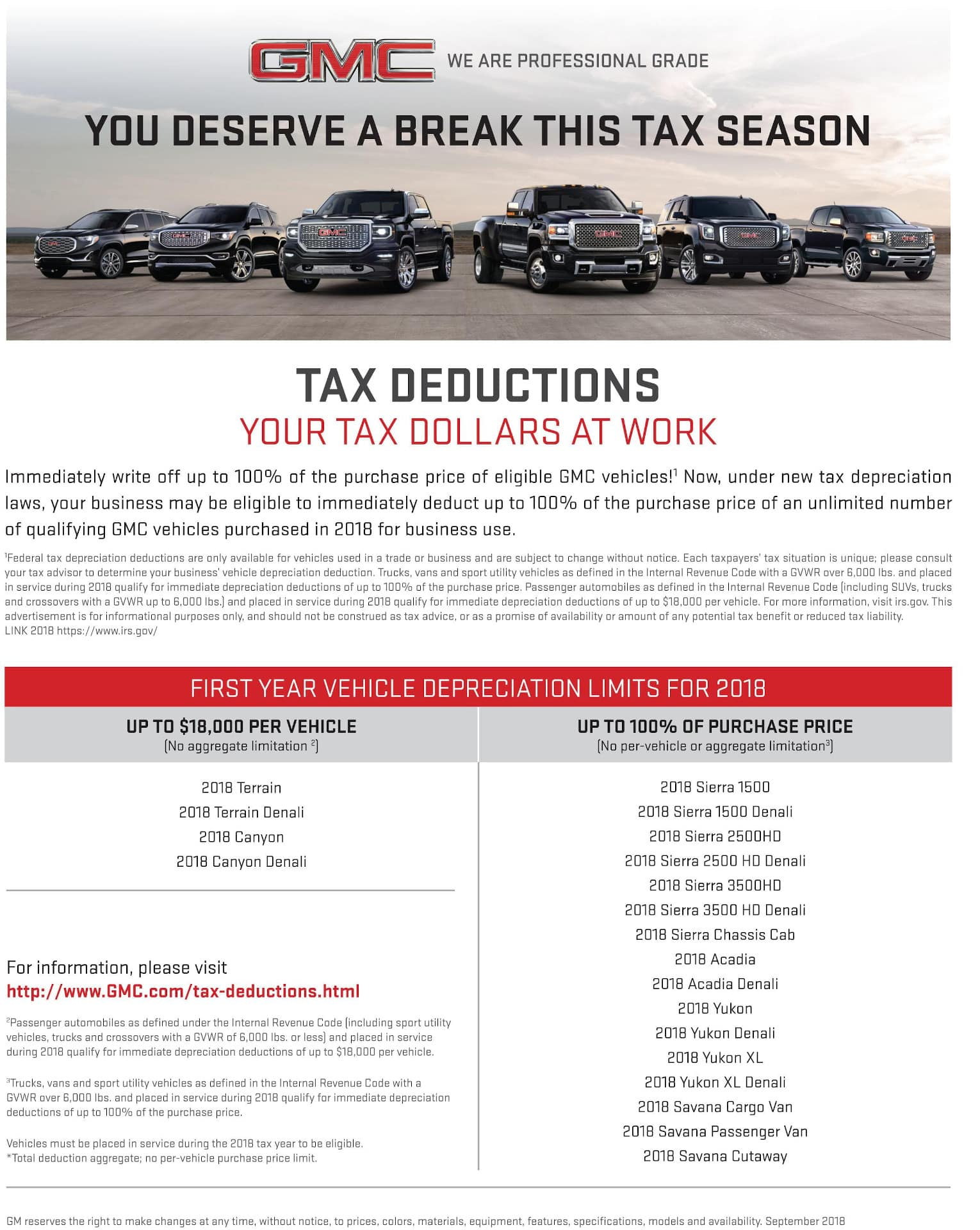 GMC Tax Deductions
