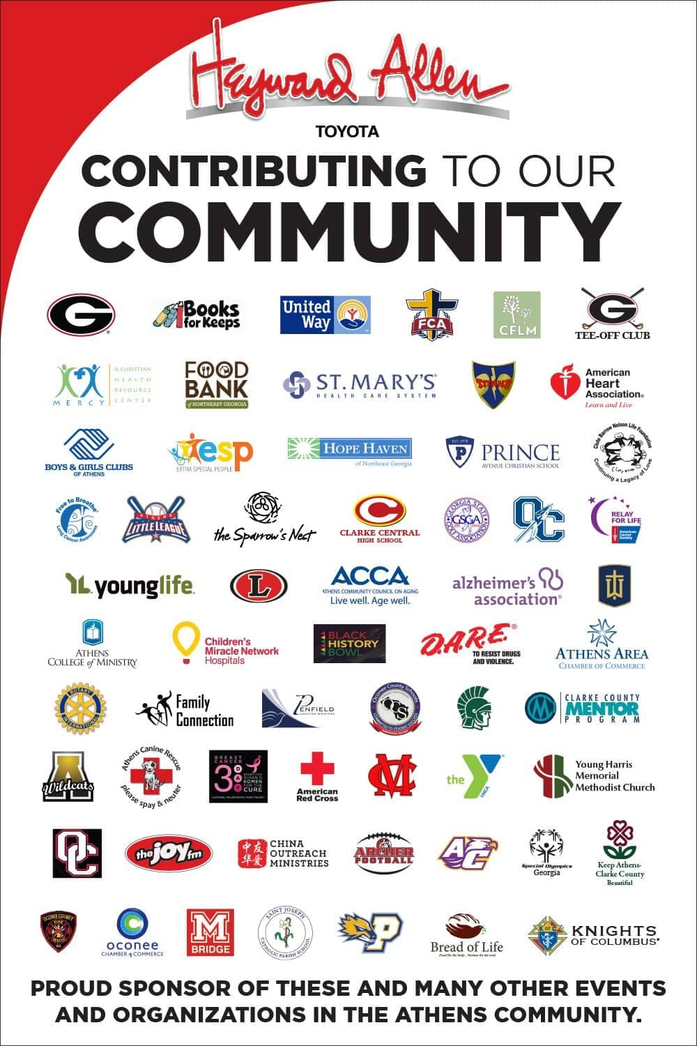 Community Involvement | Heyward Allen Toyota