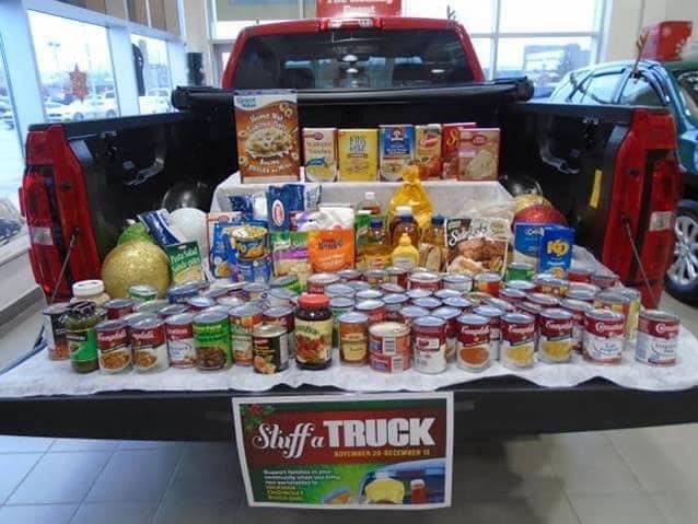 stuff in a truck