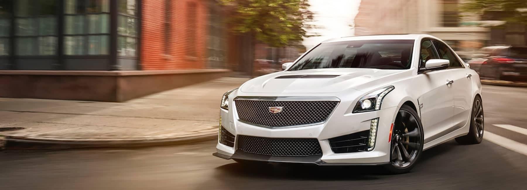 Cadillac Banner Image - White Cadillac-CTS-V-Front