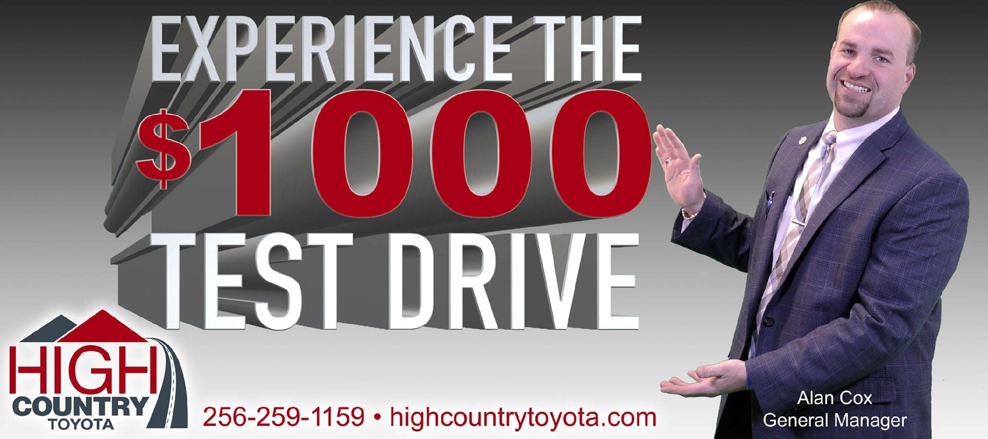 Schedule Your $1,000 Test Drive | High Country Toyota