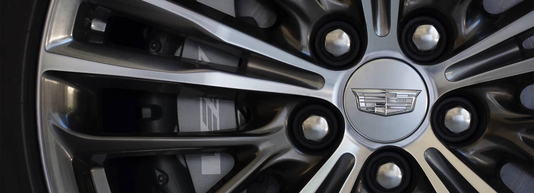 2020 Cadillac CT6-V Sport Sedan Wheel Spokes Close Up