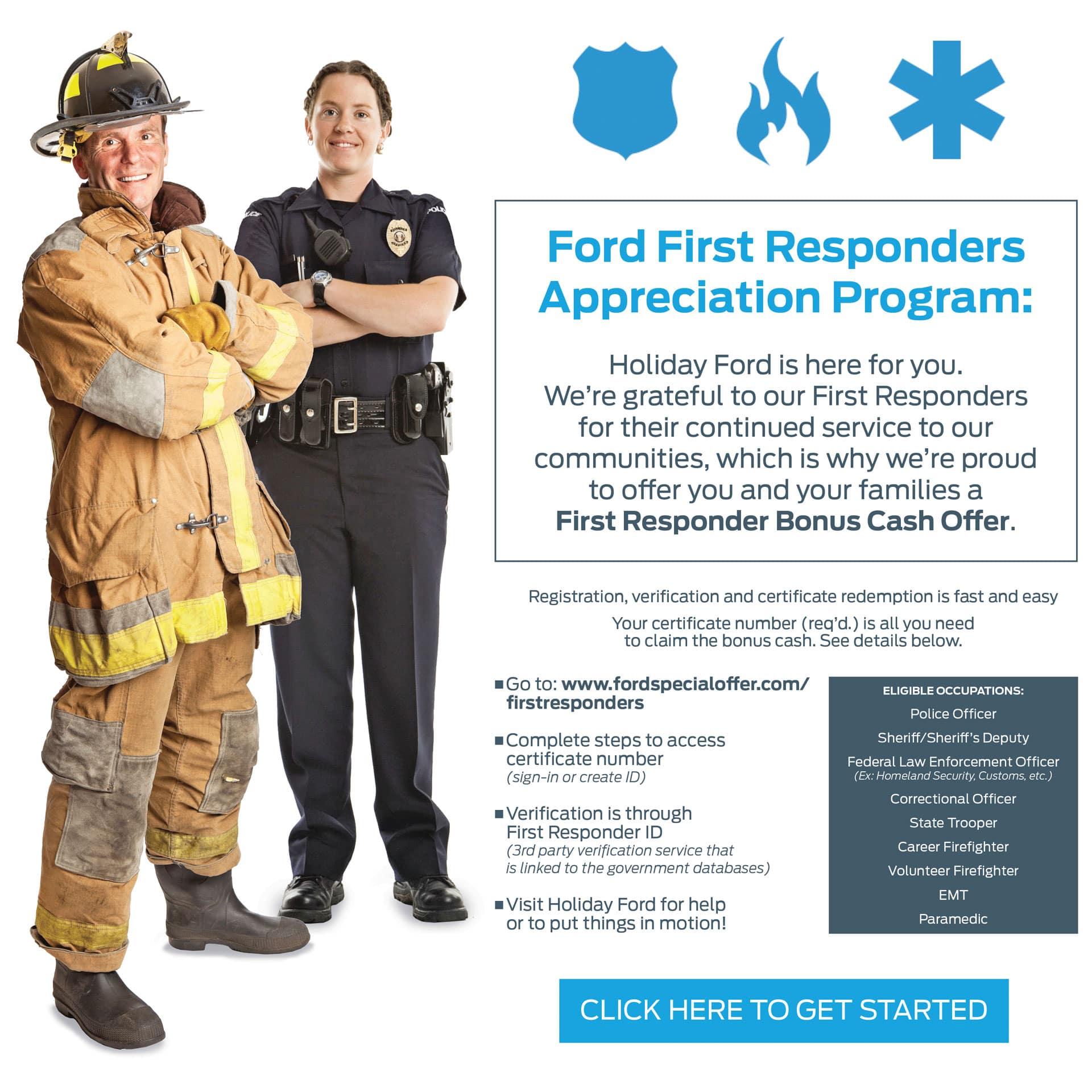 Ford First Responder Appreciation Program