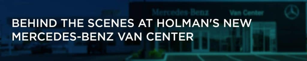 Behind scenes Mercedes Van Center Header