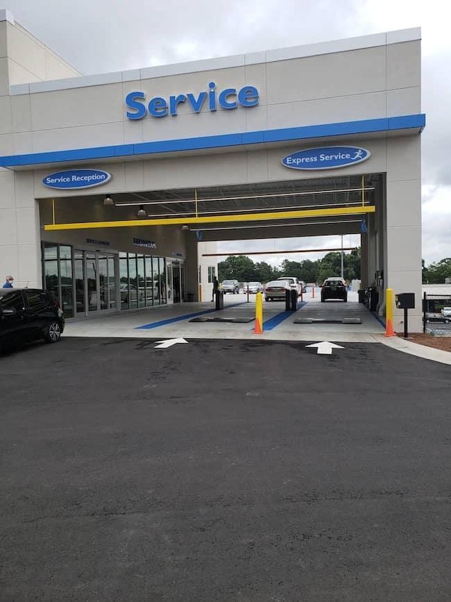 exterior entrance to service center