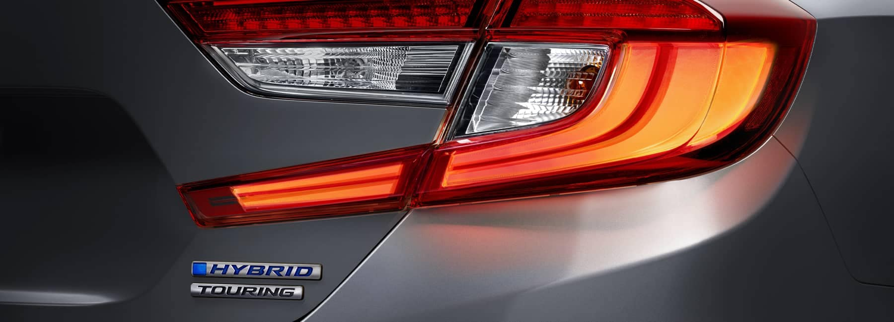 Close up of a Silver 2021 Honda Accord right tail light_