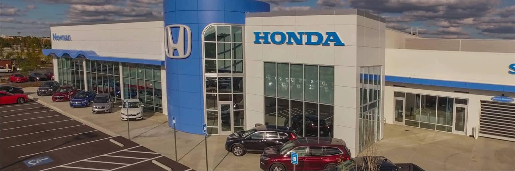 Honda of Newnan Hero Image - exterior of dealership