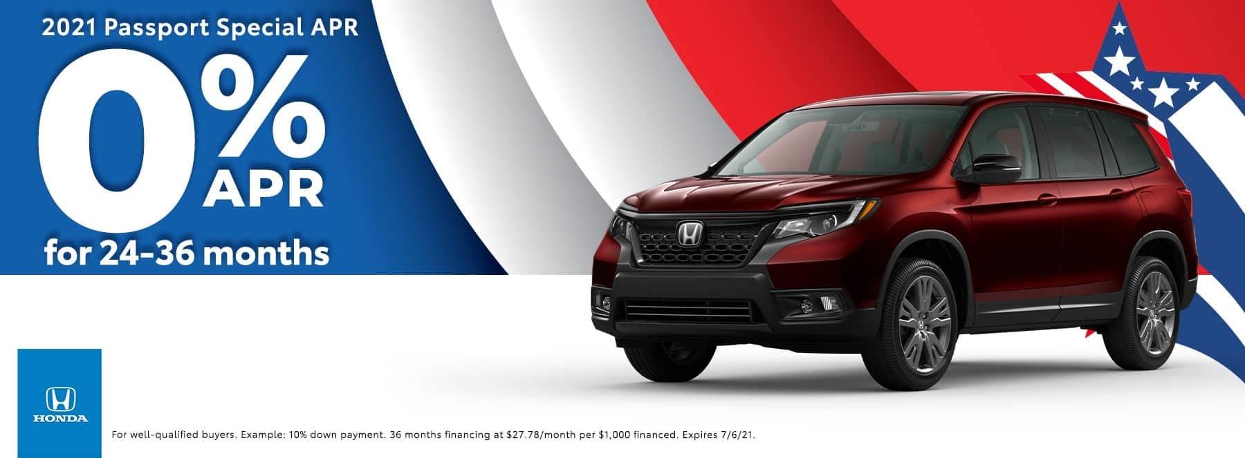 Honda of Newnan - 2021 Passport Special - 0% APR for 24-36 months