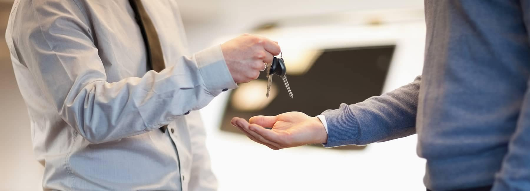 Finance Center Background - handing keys over